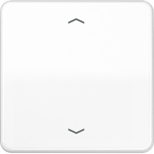 """JUNG CD500 stuurafdekking standaard """"pijlen"""" - alpin wit (CD 1700 P WW)"""
