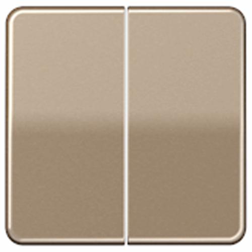 JUNG CD500 stuurafdekking standaard 2-voudig - goud-brons (CD 1702 GB)