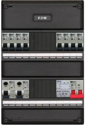 EMAT groepenkast 8 groepen met kWh-meter 220x330 mm 1 fase