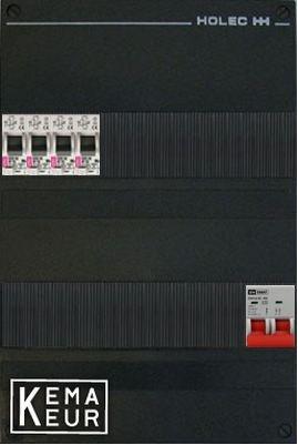 ETI groepenkast 4 aardlekautomaten 220x380 (BxH) 1 Fase
