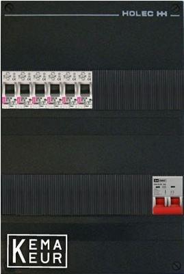 ETI groepenkast 6 aardlekautomaten 220x380 (BxH) 1 Fase