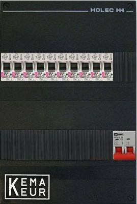 ETI groepenkast 10 aardlekautomaten 220x380 (BxH) 1 Fase
