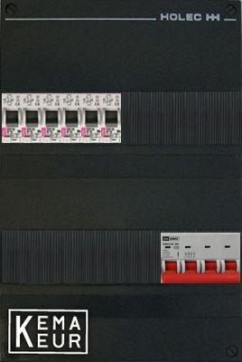 ETI groepenkast 6 aardlekautomaten 220x380 (BxH) 3 Fase