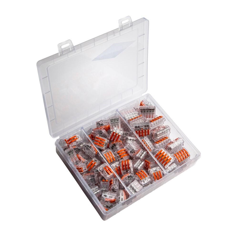 Conex transparante universele lasklemmen assortiment box (CH20093)