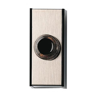 Honeywell Home - Friedland beldrukker opbouw 60x27x22mm zilver/zwart