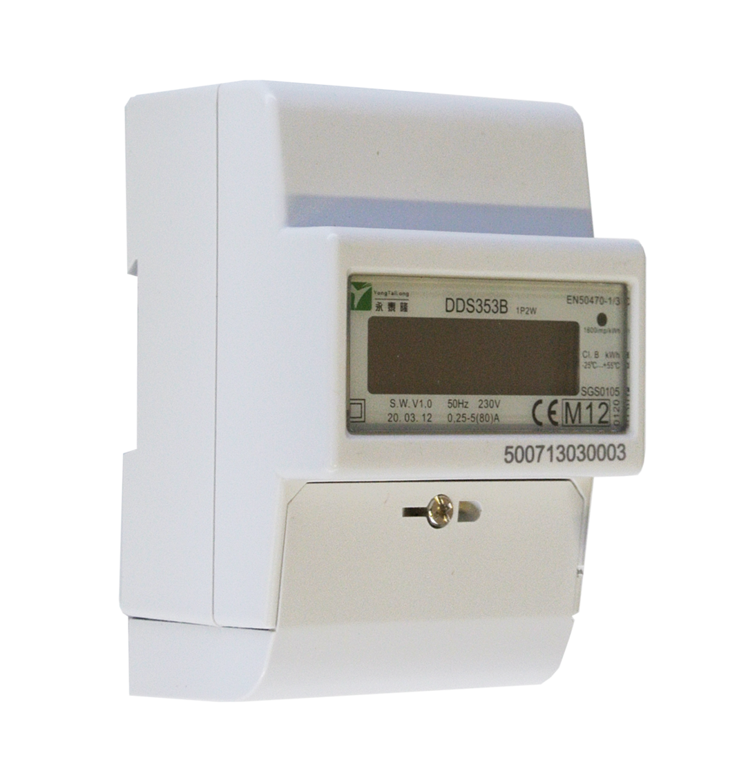 DZT 1-fase kWh meter 230V 5/80A MID LCD 5+2