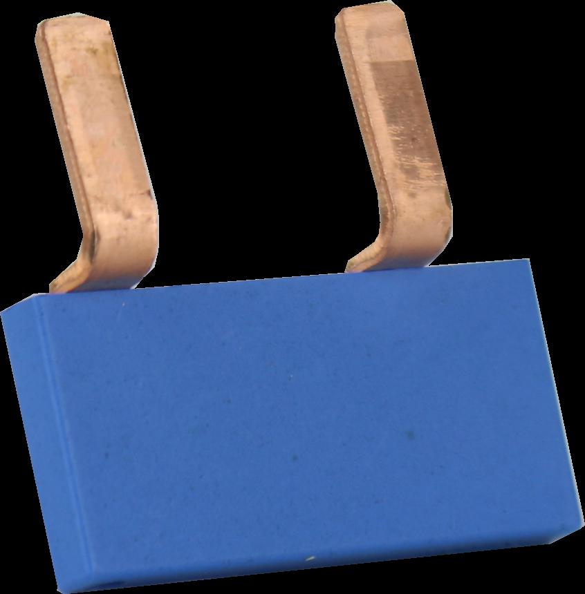 EMAT Doorverbinder 2-voudig blauw