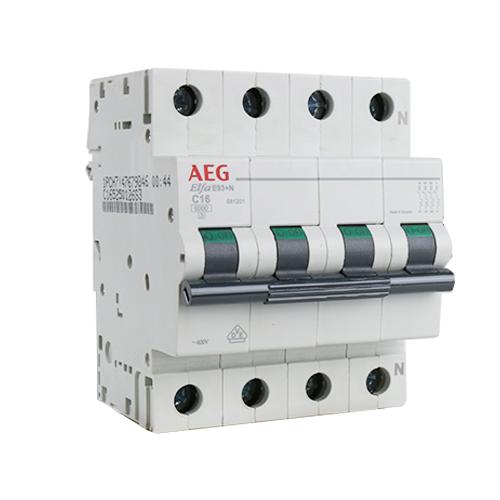 AEG krachtgroep 3-polig+nul 16A C-kar (E10090)