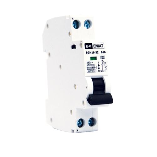 EMAT installatieautomaat 1P+N 25A B-Kar