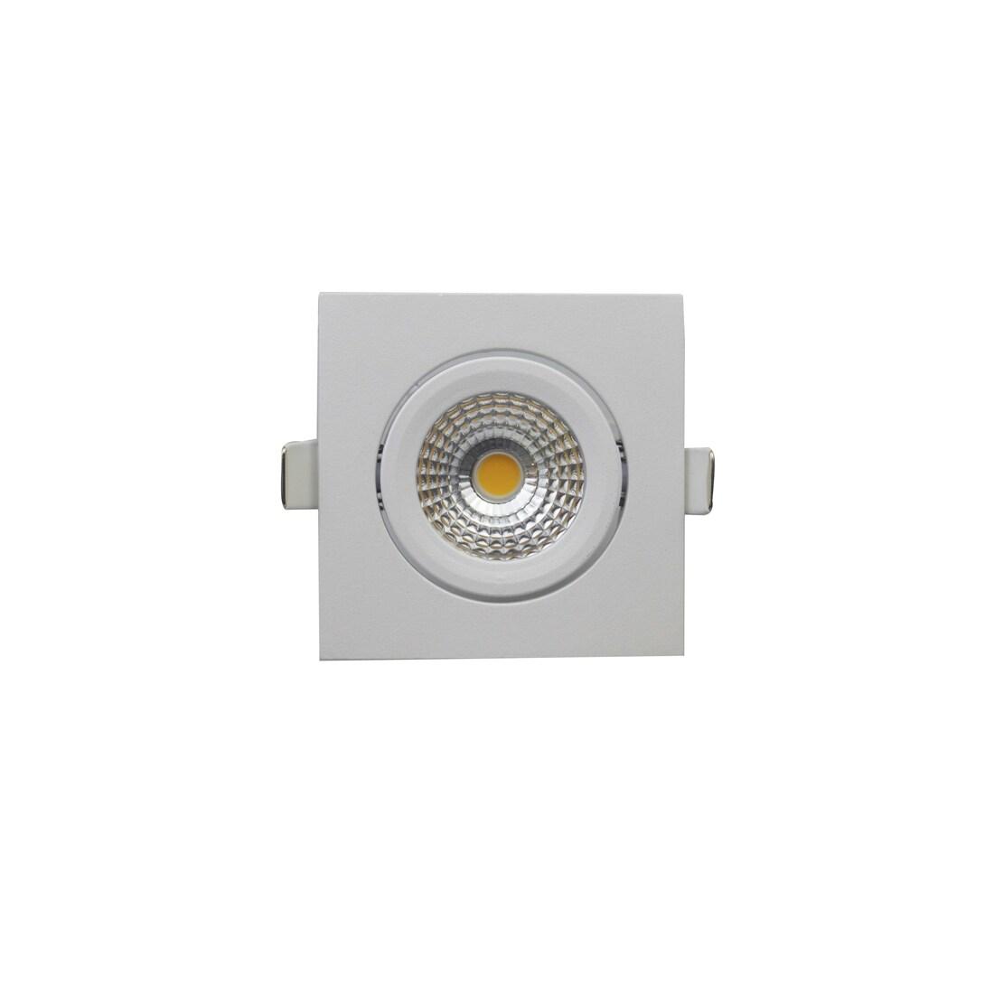 EM Electronics waterdichte inbouwspot dimbaar vierkant kantelbaar wit - compleet met lamp en driver - IP54