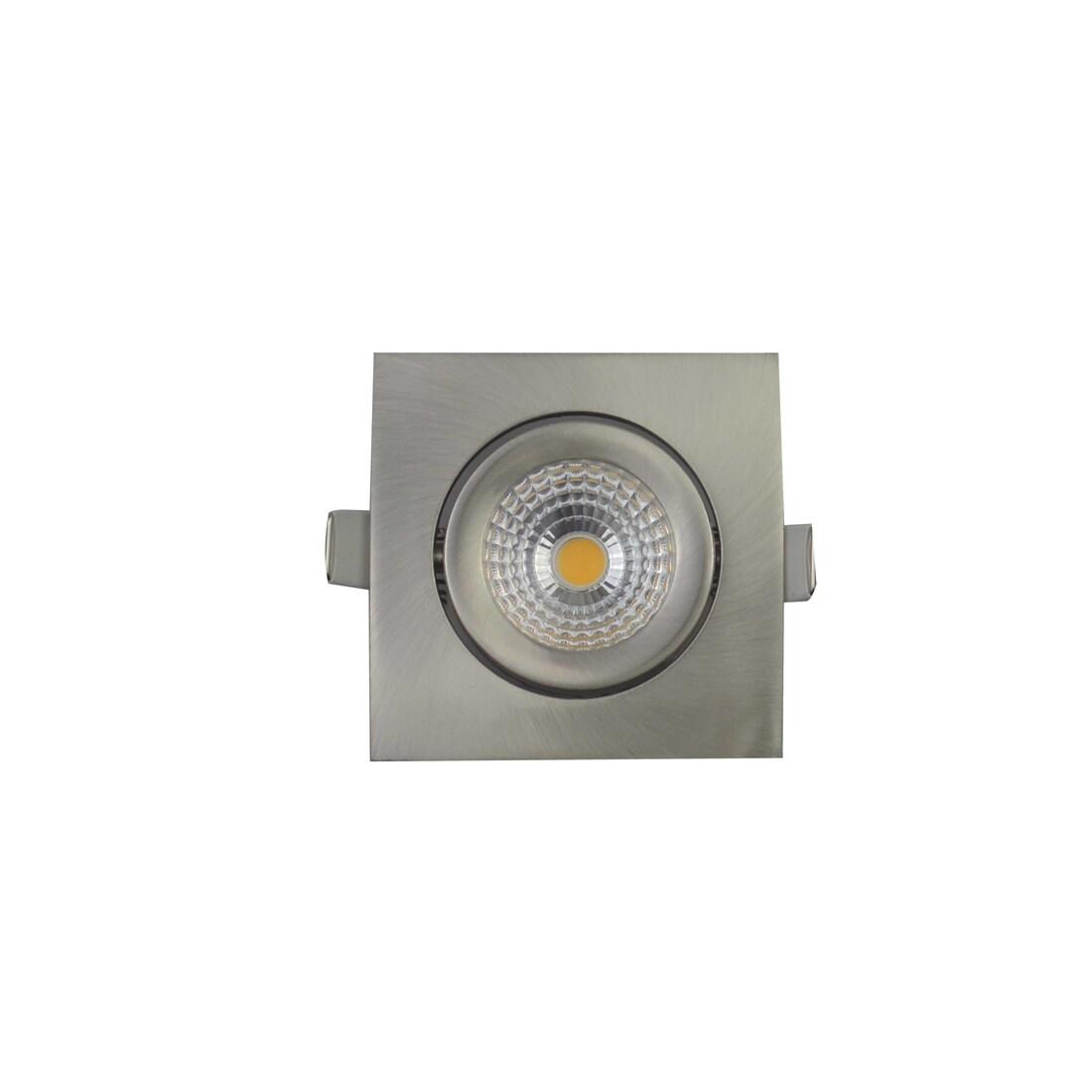 EM Electronics waterdichte inbouwspot dimbaar vierkant kantelbaar nikkel mat - compleet met lamp en driver - IP54