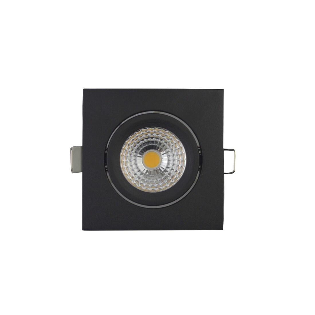 EM Electronics waterdichte inbouwspot dimbaar vierkant kantelbaar zwart - compleet met lamp en driver - IP54