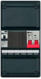 EMAT groepenkast 1 aardlekautomaat 110x220 (BxH) 1 fase HFD