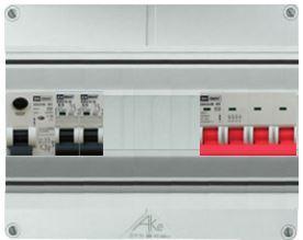 EMAT waterdichte groepenkast 2 groepen 250x200 (BxH) 3 fase HFD