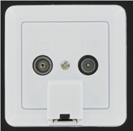 EMAT Combi-outlet R/TV CAT5E