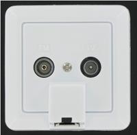 EMAT Combi-outlet R/TV CAT5E