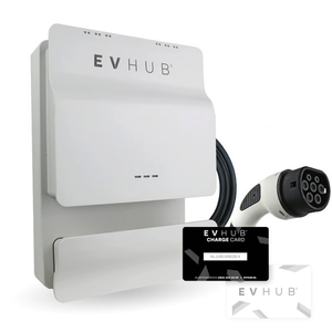 EVHUB laadpaal type 1 met pasjessysteem 16A (3,7kW) - wit (EV-HUB004PAS)