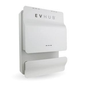 EVHUB dubbele laadpaal type 1 met een Mennekes wandcontactdoos 16A (2x3,7kW) - wit (EV-HUB1SPEC32A)