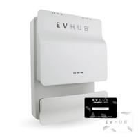 EVHUB laadpaal Mennekes wandcontactdoos met pasjessysteem (3,7kW/11kW) - wit (EV-HUB014PAS)
