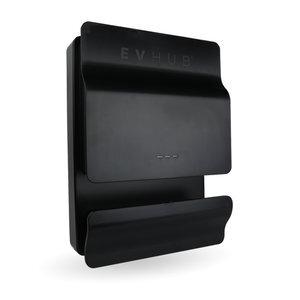 EVHUB dubbele laadpaal type 2 met een Mennekes wandcontactdoos 16A (2x3,7kW) - zwart (EV-HUB2SPEC16A)