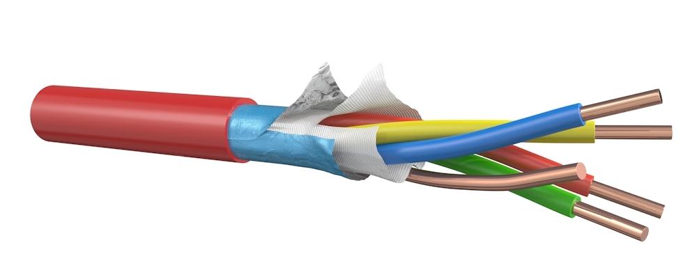 Signaalkabel 2x2x0,8 mm E60 rood - rol van 100 meter