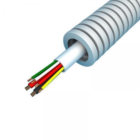 Snelflex Flexibele buis alarmkabel 8x0,22 en 2x0,75 mm - 16 mm rol 100 meter