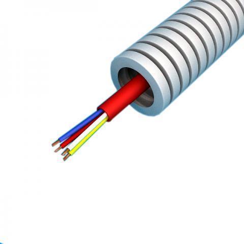 Snelflex Flexibele buis brandalarmkabel YR-mb rood 2x0,8 mm - 16 mm rol 100 meter