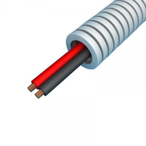 Snelflex Flexibele buis luidsprekerkabel 2x0,75 mm - 16 mm rol 100 meter