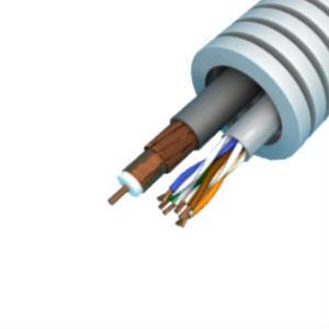 Snelflex Flexibele buis coax kabel en UTP CAT6 kabel - 20 mm rol 100 meter