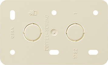 Gira Montageplaat 2-voudige voor wandcontactdoos opbouw crème wit