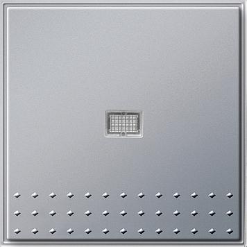 Gira TX_44 wisseldrukcontact recht met controlevenster (SW IB) aluminium
