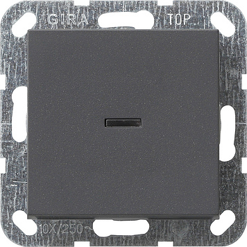 Gira drukvlakschakelaar controleverlichting 2-polig - systeem 55 antraciet (12228)