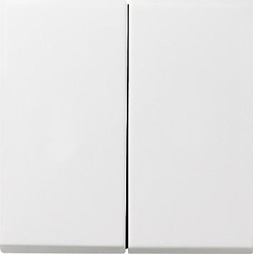 Gira F100 tastchakelaar zuiver wit