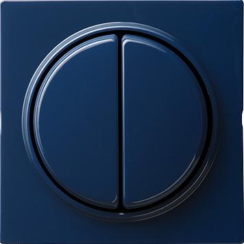 Gira S-color serieschakelaar met afdekking 2-voudige wip blauw