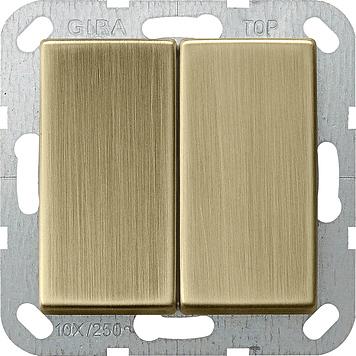 Gira systeem 55 serieschakelaar brons