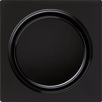 Gira S-color uitwisselschakelaar met afdekking en wip zwart