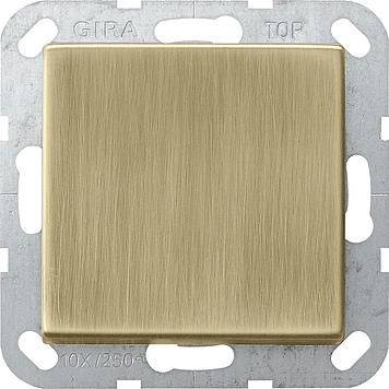 Gira tastschakelaar uit-wissel - systeem 55 brons (0126603)