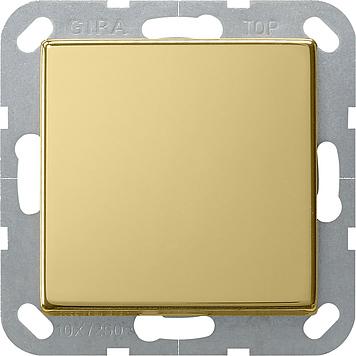 Gira tastschakelaar uit-wissel - systeem 55 messing (0126604)