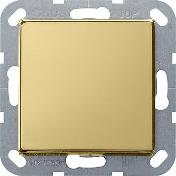 Gira kruisschakelaar - systeem 55 messing (0127604)
