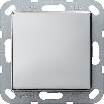Gira kruisschakelaar - systeem 55 chroom (0127605)
