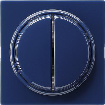 Gira S-color wisselschakelaar 2-voudige wip met afdekking blauw