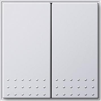 Gira TX_44 wisselschakelaar met 2-voudige wip zuiver wit