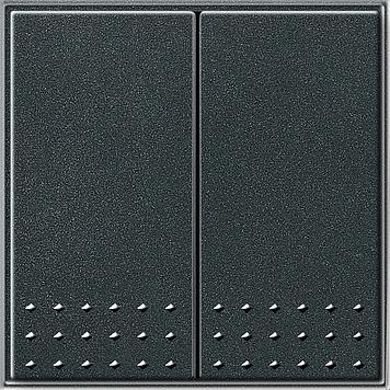 Gira TX_44 wisselschakelaar met 2-voudige wip antraciet