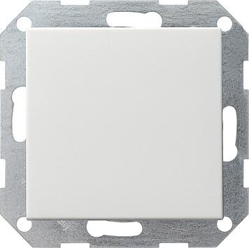 Gira drukcontact wisselschakelaar rechtstaand - systeem 55 zuiver wit mat (013027)