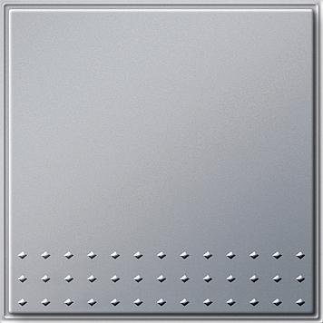Gira TX_44 wisseldrukcontact met rechtstaande wip aluminium