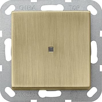 Gira systeem 55 tast-controleschakelaar uit-wissel brons