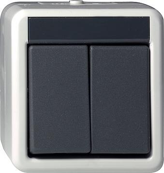 Gira Drukcontact Serie SW opbouw grijs