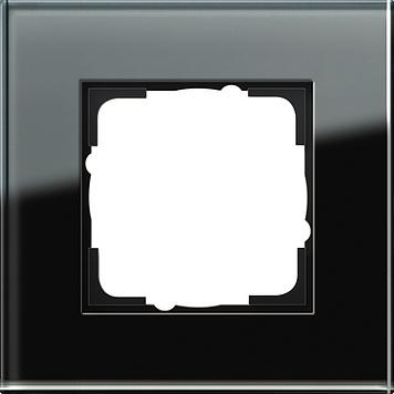 Gira Esprit afdekraam 1-voudig glas zwart