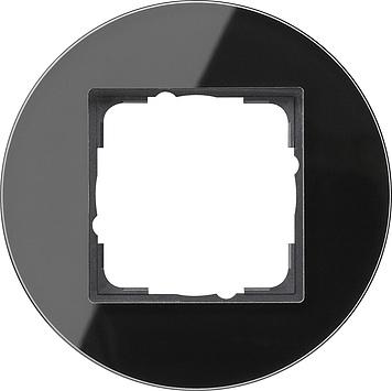 Gira Studio afdekraam 1-voudig glas zwart