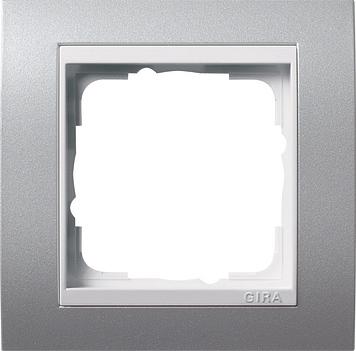 Gira Event afdekraam 1-voudig zuiver wit/aluminium